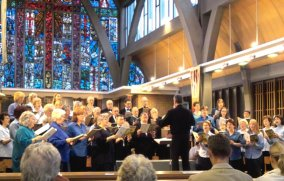 Concert at St. Andrew and St Geoge Church - image is called AXconcert_small.jpg - 21264 Bytes